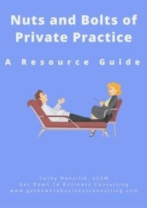 Nuts and Bolts of Private Practice Resource Guide Cover