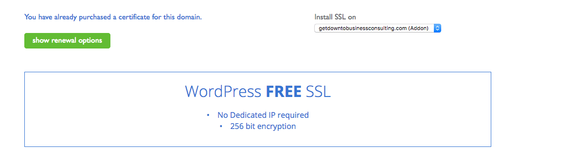 installing a ssl certificate on my bluehost website